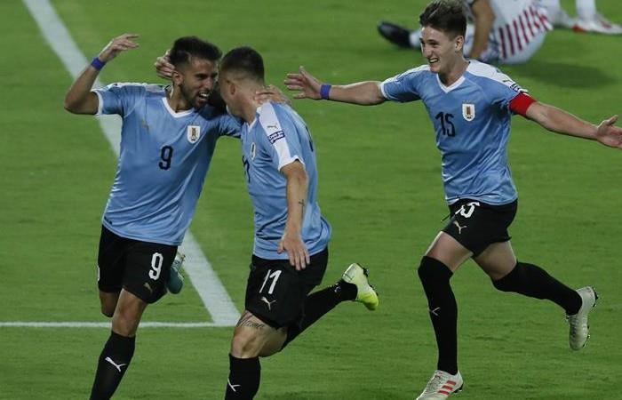 Uruguay empezó pegando duro en Preolímpico 2020 -. Foto: EFE