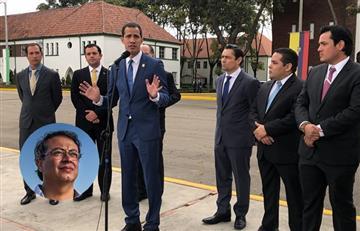 """Juan Guaidó tildó a Gustavo Petro """"de cómplice"""" de Maduro"""
