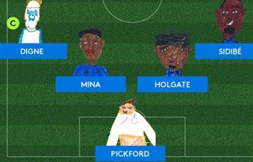 Los tiernos dibujos hechos por niños para anunciar la alineación de Everton