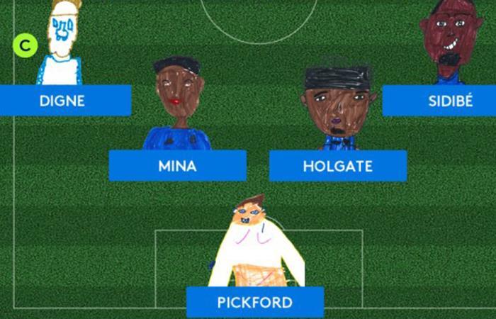 La tierna alineación de Everton incluye a Yerry Mina. Foto: Twitter
