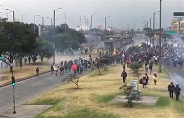 Banderas: redes sociales reportan desmanes entre manifestantes y Esmad