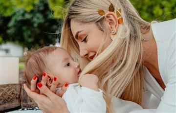 Caída del bebé de Melina Ramírez y Mateo Carvajal causa gracia en redes