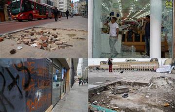 Más de 100 millones costaría arreglar los daños que dejó el paro del 21 de enero