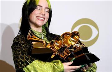 Billie Eilish se convirtió en la artista más joven en llevarse los premios más importantes de los Grammy