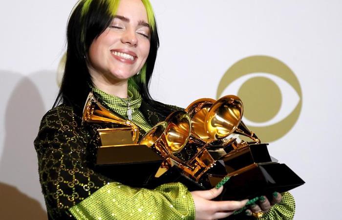 Billie Eilish ganadora Grammy 2020