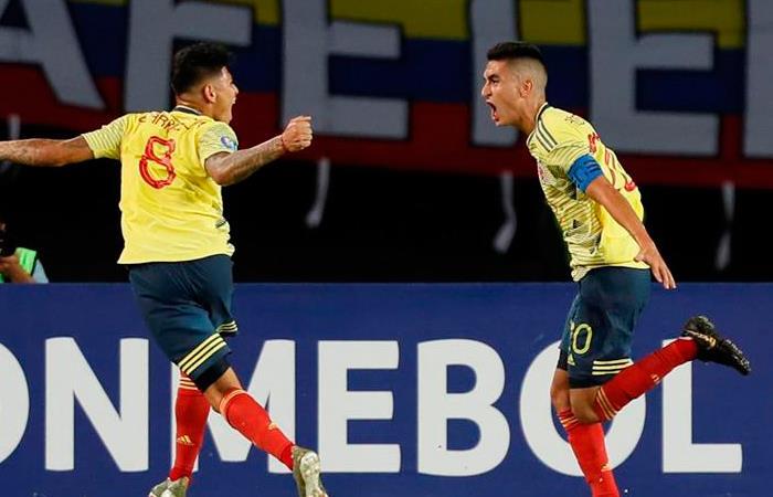 Colombia derrotó a Venezuela y sueña con los Olímpicos. Foto: EFE