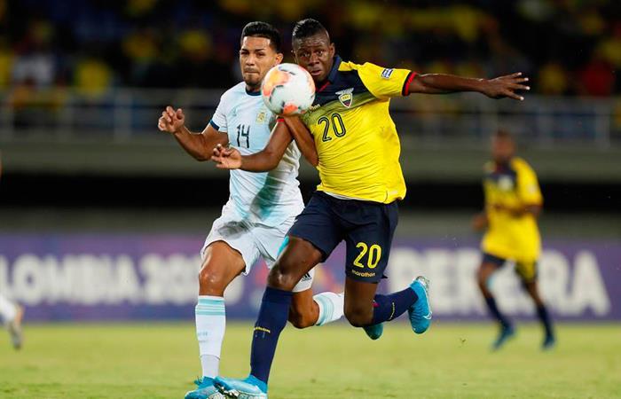 Resultados preolímpico Colombia 2020 partido Argentina vs. Ecuador