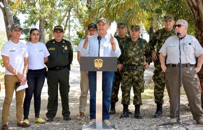 El anuncio lo hizo Iván Duque desde el municipio de Tibú (Norte de Santander). Foto: Twitter