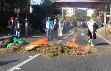 Estudiantes de la 'Distrital' confrontaron al Esmad en La Macarena