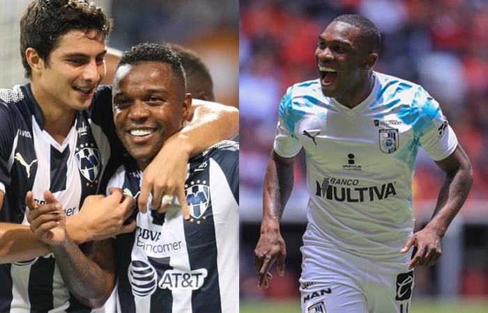 Los colombianos serán protagonistas en el choque entre Monterrey y Querétaro. Foto: Twitter