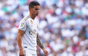 James arrancará desde el banco en el derbi entre Real Madrid y Atlético