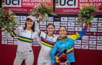 Mariana Pajón empezó con medalla su participación en la Copa del Mundo de BMX
