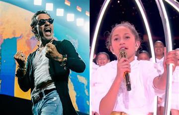 """""""Emme, papi está muy orgulloso de ti"""": Reacción de Marc Anthony al ver a su hija cantando en el Super Bowl"""