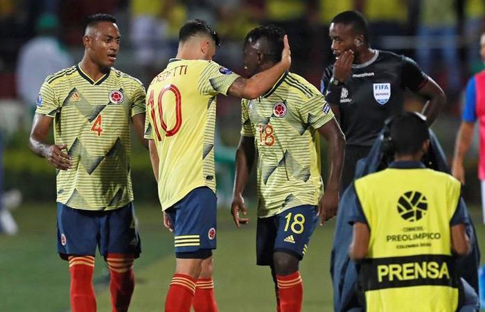 La Selección Colombia igualó 1-1 ante Brasil. Foto: EFE
