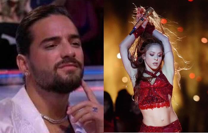 Reacción Maluma contra Shakira al cantar 'Chantaje' en Super Bowl