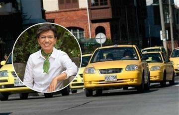 """""""Nada de no voy por allá"""": La advertencia de Claudia López para los taxistas en Bogotá"""