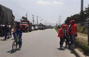 Tras 'Día sin Carro' Camioneros iniciaron protestas en varios puntos de la ciudad