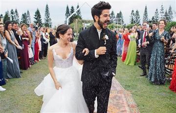 [VIDEO] Camilo Echeverry no contuvo las lágrimas al ver a Evaluna llegar al altar vestida de novia