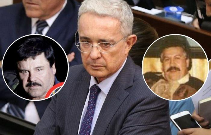 Álvaro Uribe habría tenido relación directa con las acciones delictivas de 'El Chapo' y Escobar. Foto: Twitter