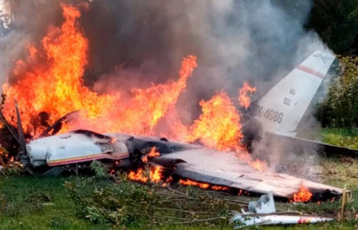Accidente aéreo en Guaymaral. Foto: Twitter