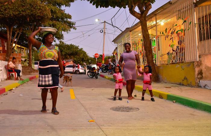 Palenquera en Barranquilla. Foto: Twitter