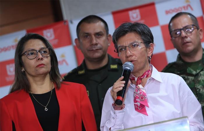 Claudia López anunció las medidas de seguridad para los próximos días. Foto: Twitter