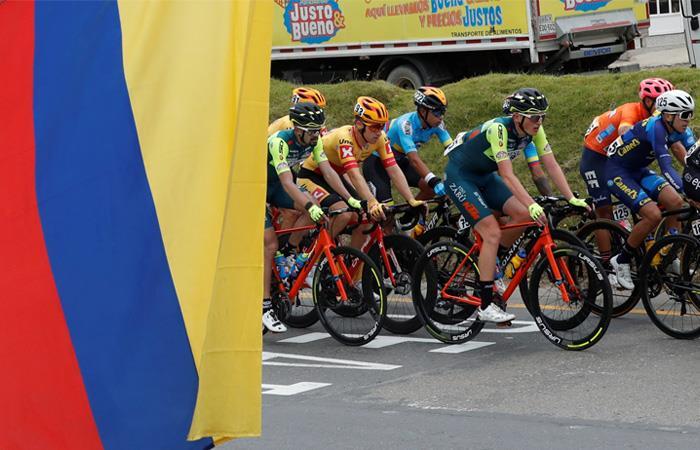 El Tour Colombia sigue acaparando las miradas del ciclismo mundial. Foto: EFE