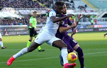 Duván Zapata fue titular en la victoria de Atalanta ante Roma