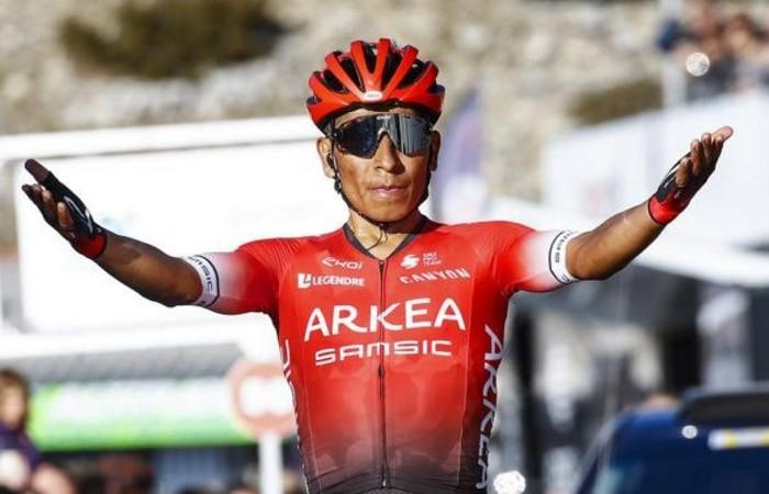 Nairo Quintana gana su primera prueba con Arkea -. Foto: Twitter
