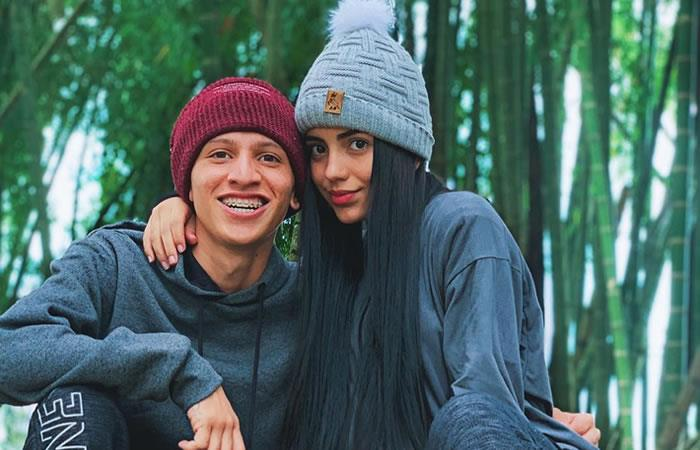 'La Liendra' con su novia, Luisa Castro. Foto: Instagram