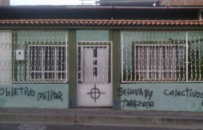Amenaza del ELN en Táchira. Foto: Twitter