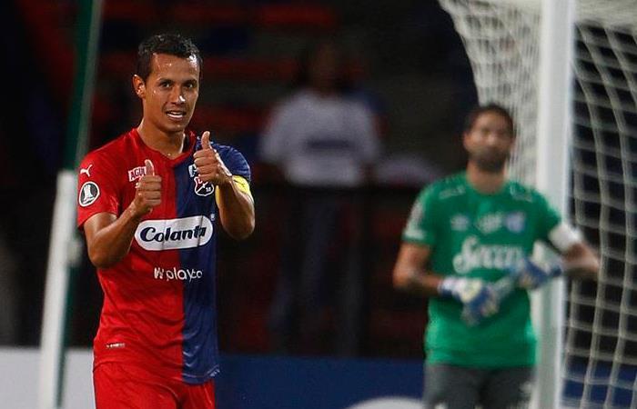 Andrés Ricaurte, autor del gol de la victoria del DIM. Foto: EFE