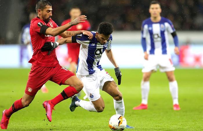 Luis Díaz anotó ante Leverkusen. Foto: EFE