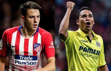 Arias y Bacca estarán presentes en el choque entre Atlético y Villarreal