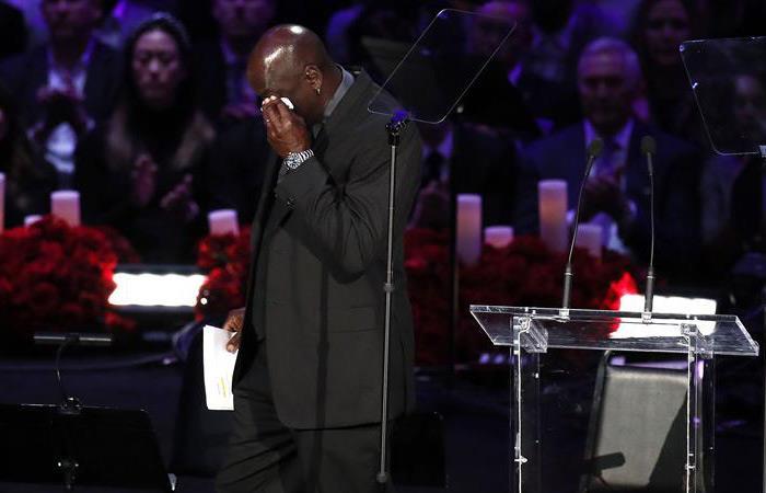 Lágrimas Michael Jordan discurso Kobe Bryant