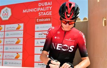 [VIDEO] Chris Froome se 'quemó' en el Tour de los Emiratos