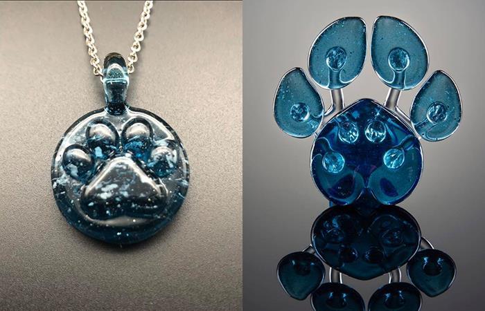 Las cenizas de tu mascota pueden ser convertidas en hermosas piezas de cristal