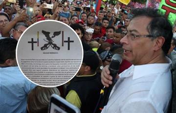 Las 'Águilas Negras' amenazaron a Gustavo Petro y su familia
