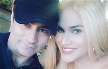 Esposa trans de Mauro Urquijo mostró más de la cuenta por usar un escote bastante abierto