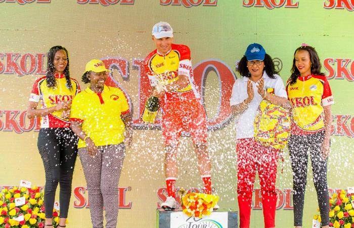 Jhonatan Restrepo ganó la quinta etapa del Tour de Ruanda. Foto: Twitter
