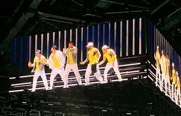 [VIDEO] Los Backstreet Boys le hicieron homenaje a la Selección Colombia en pleno concierto