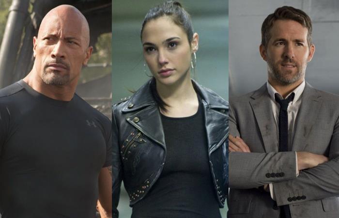 Dwayne Johnson, Gal Gadot y Ryan Reynolds son los protagonistas de 'Red Notice'. Foto: Twitter