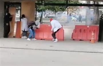 Redes reportan enfrentamientos entre estudiantes de la U Nacional y Esmad