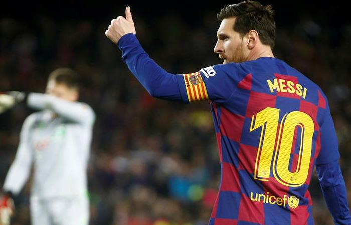 Messi anotó el gol de la victoria. Foto: EFE