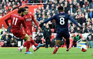 Jefferson Lerma no pudo evitar la derrota de Bournemouth ante Liverpool