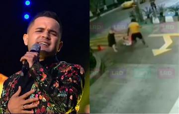 'Tremenda' paliza le dieron a Jorge Celedón de 'Yo me llamo' en la calle