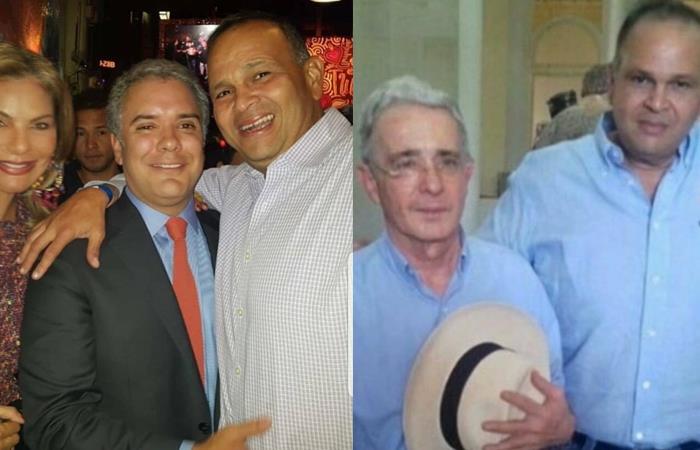 Iván Duque y Álvaro Uribe, posan con el 'Ñeñe' Hernández. Foto: Twitter