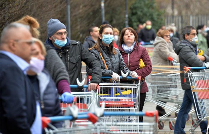 Italia es el segundo país más afectado por el coronavirus. Foto: EFE