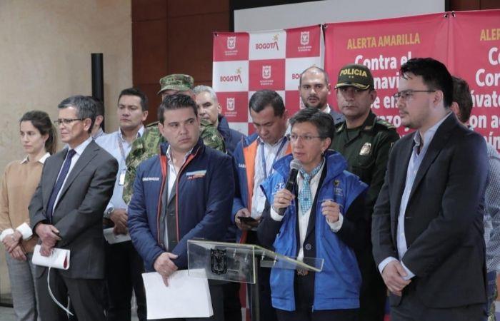Simulacro aislamiento Bogotá coronavirus