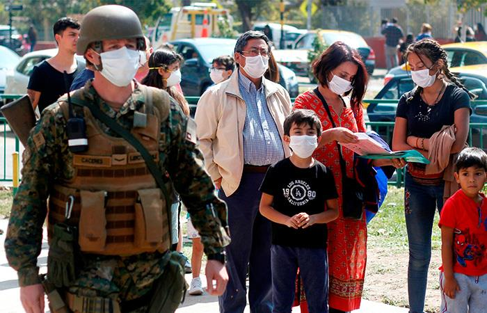 Coronavirus Chile contagiados Pandemia COVID19